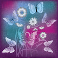 Abstract Illustration With Flowers And Butterfly Stock Photography - 20123372