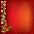 Abstract Illustration With Butterfly And Flowers Royalty Free Stock Image - 20123496