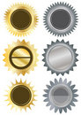 Metals Circle Blank Stickers_eps Royalty Free Stock Photography - 20129727