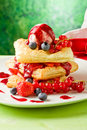 Puff Pastry With Berries And Ice Cream Royalty Free Stock Image - 20134526