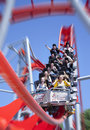 Red Roller Coaster  Royalty Free Stock Image - 20147456