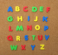 Alphabet A Thru Z Isolated On Cork Board Royalty Free Stock Photography - 20153897