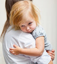 A Mother Is Holding A Sick Girl. Stock Images - 20155794
