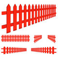 Red Fence Royalty Free Stock Images - 20171739