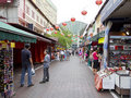 Market Stalls At Singapore S Chinatown Royalty Free Stock Photography - 20173037