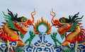 Twin Chinese Dragon Statue Stock Image - 20185831