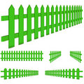 Perspective Green Fence Stock Photo - 20193900
