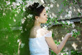 Beautiful Bride In A Blossoming Garden Royalty Free Stock Images - 20201209