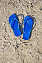 Flip-flops On The Sand. Royalty Free Stock Photo - 20224425