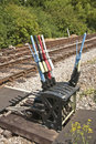 Hand Levers For Changing Rail Points Stock Photos - 20233463