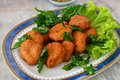 Spicy Fried Fish Ball Stock Images - 20261704