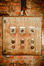 An Old Rusty Control Panel On The Wall Royalty Free Stock Photo - 20263425