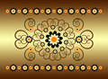 Horizontal Ornament With Flower Stock Photography - 20275242