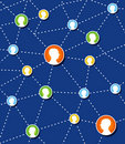 Social Network Connection Diagram. Royalty Free Stock Image - 20277986