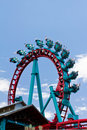 People Take A Thrilling Ride On Roller Coaster Stock Photo - 20282810