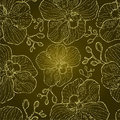 Seamless Grunge Floral Orchid Pattern Stock Photography - 20295052