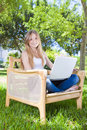 Outdoor Studying Royalty Free Stock Image - 20296606