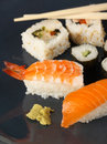 Sushi Meal On A Blue Plate Stock Photos - 2032703