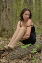 Loneliness Girl In Forest Royalty Free Stock Photography - 20330067