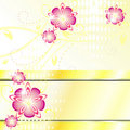 Card With Pink Flowers Royalty Free Stock Photo - 20334165