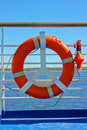 Life Buoy On A Cruise Stock Images - 20350944