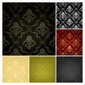 Seamless Wallpaper Pattern, Set Of Six Colors Royalty Free Stock Photos - 20359548