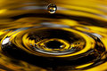 A Golden Drop Of Water Stock Image - 20361881