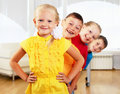 Group Classmates Standing In A Row Royalty Free Stock Image - 20365826