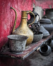 Shelf With Old Jug Stock Images - 20390184