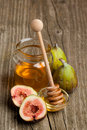 Ripe Fig Fruits With Honey Stock Photo - 20394700