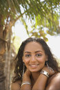 Young-adult Black Female Smiling. Stock Images - 2042194