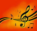 Music Notes Background Royalty Free Stock Images - 2043269