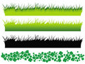 Grass Set And Clover Set Royalty Free Stock Images - 20402949