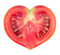 Slice Of Tomato In The Shape Of Heart Stock Images - 20407864