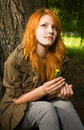 Romantic Portrait Of A Young Redhead. Stock Image - 20418521