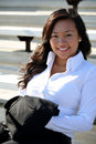 Pretty Young Asian Business Woman Royalty Free Stock Photo - 20438095