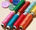 Colorful Threads And Buttons Royalty Free Stock Photo - 20438905