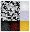 Seamless Wallpaper Pattern, Set Of Six Colors Stock Photos - 20443733