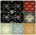 Seamless Wallpaper Pattern, Set Of Six Colors Stock Image - 20444151
