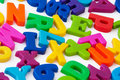 Magnetic Alphabet Letters Stock Image - 20445011