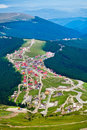 Aerial View Of Ranca Town In Parang Mountains Stock Photography - 20454512