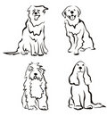 Dogs Set Of Silhouettes Stock Photos - 20457973