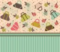 Cartoon Vintage Woman S Bags Stock Images - 20458044