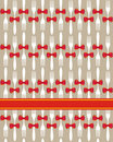 Christmas Cutlery Seamless Pattern Background Stock Image - 20460561