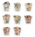 Glasses With Euro-Coins Stock Photography - 20465502