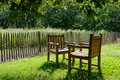 Two Chairs Exposed At Sunlight Royalty Free Stock Photography - 20466897
