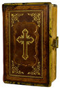Old Book With A Cross Royalty Free Stock Photo - 20481435