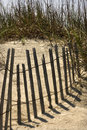 Fence On Sand Dune Royalty Free Stock Image - 2051506