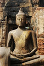 Monkey On A Buddhist Statue In Thailand Stock Photo - 2058110