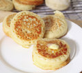 Buttered English Crumpets Royalty Free Stock Images - 20508049